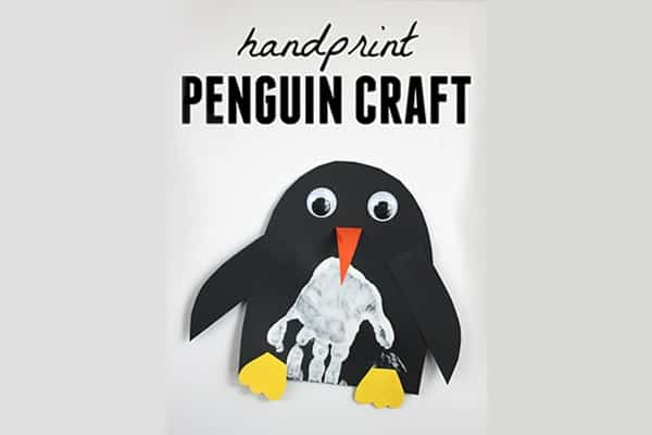 Hand made print for penguin-min