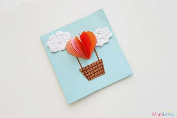 Heart Hot Air Balloon Card 1