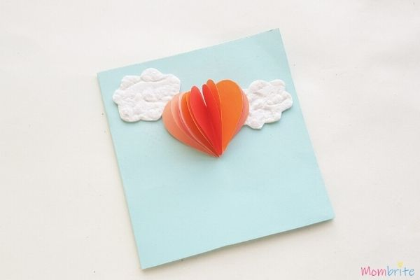 Heart Hot Air Balloon Card Step 3 3