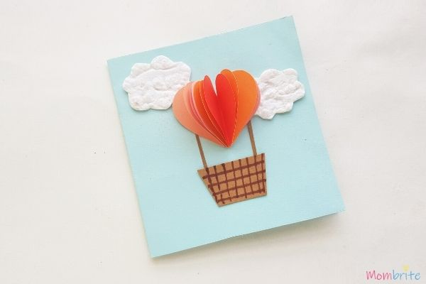 Heart Hot Air Balloon Card Step 4 1