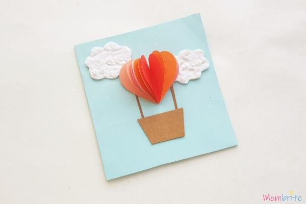 Heart Hot Air Balloon Card Step 4