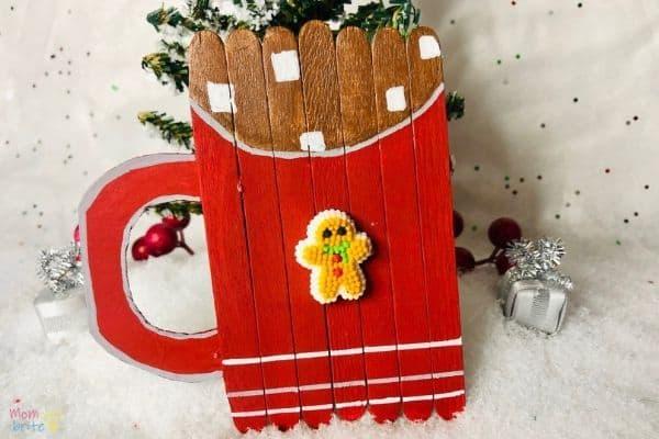 Hot Chocolate Mug Popsicle Stick