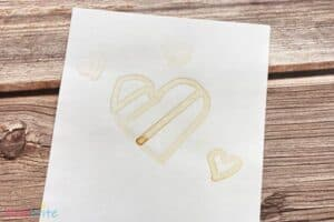 Invisible Ink Experiment Lemon Juice Hearts