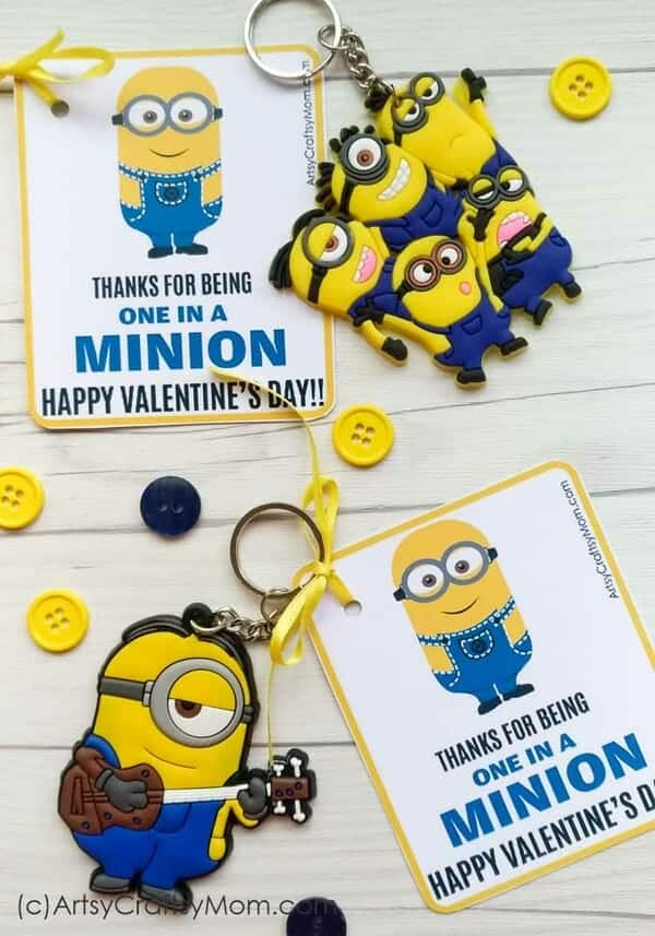 Minion Valentine Printable card