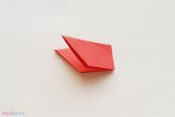 Paper Flower Craft Fold Half 1