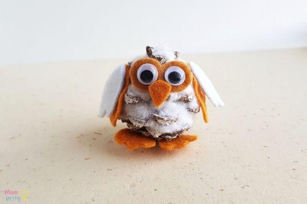 Pinecone Snowy Owl Craft