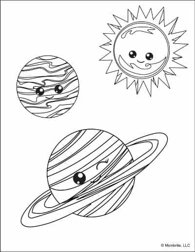 Planet-Mercury-and-Saturn-and-the-Sun