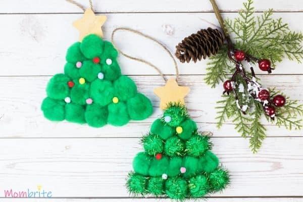 Pom Pom Christmas Tree Craft Finished