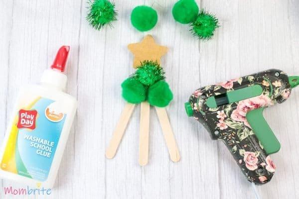 Pom Pom Christmas Tree Craft Step 4