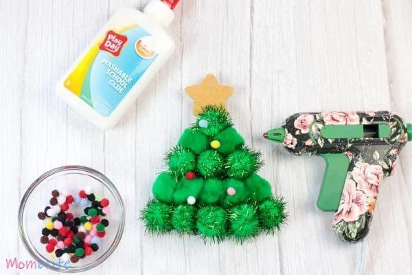 Pom Pom Christmas Tree Craft Step 5
