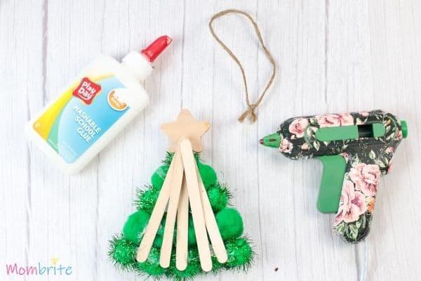 Pom Pom Christmas Tree Craft Step 6