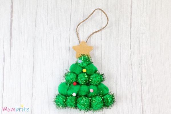 Pom Pom Christmas Tree Craft Step 7