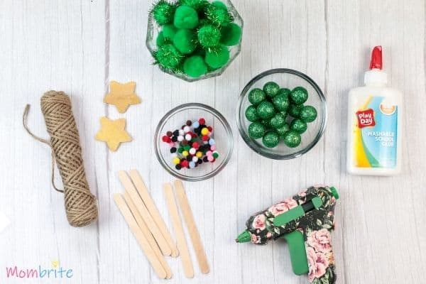 Pom Pom Christmas Tree Craft Supplies