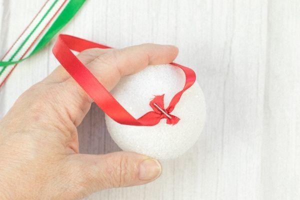 Pom Poms Ball Christmas Ornament Craft (4)