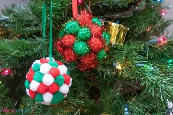 Pom Poms Ball Christmas Ornament Craft
