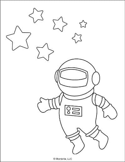 Space Coloring Pages Astronaut