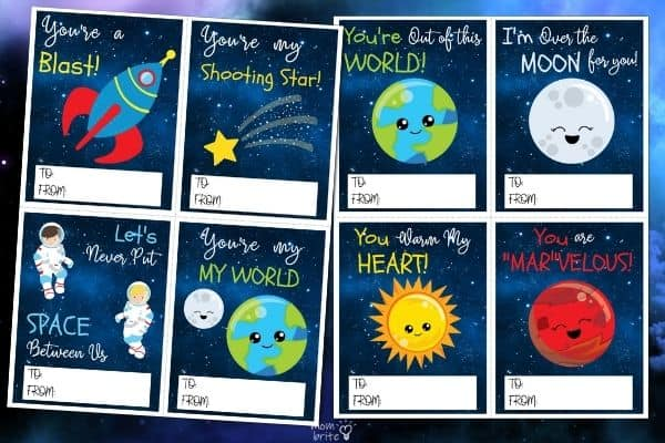 Space Valentine's Cards for Kids (3)