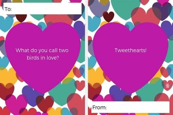 Valentine Card With Silly Jokes