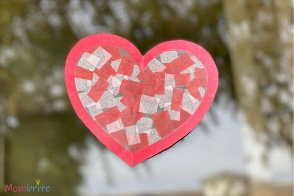 Valentine Heart Suncatcher Craft (11)