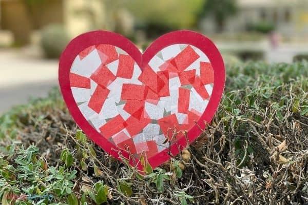 Valentine Heart Suncatcher Craft (12)