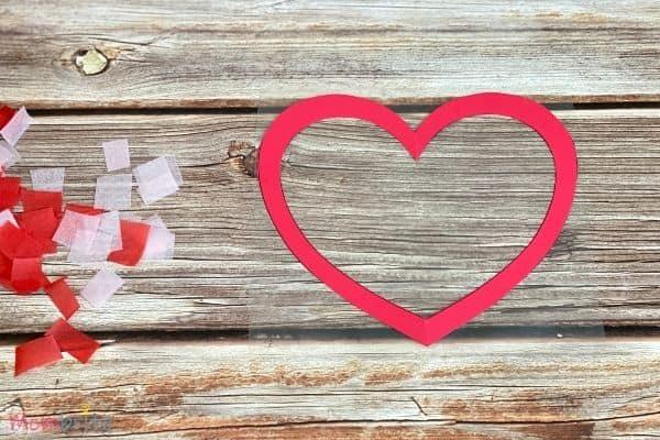 Valentine Heart Suncatcher Craft (6)
