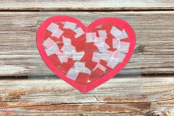 Valentine Heart Suncatcher Craft (7)
