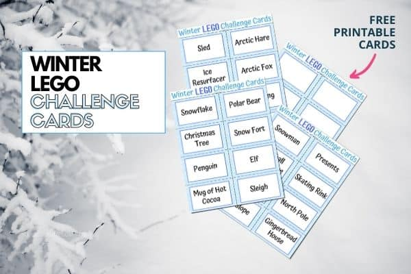 Winter LEGO Challenge Cards Featured