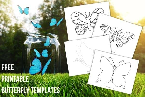 free printable butterfly templates image 2