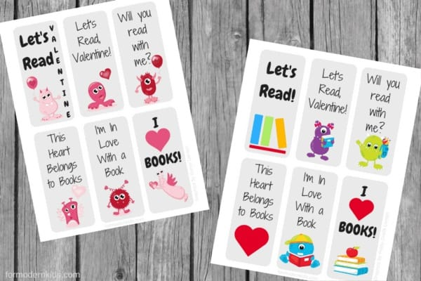Bookmark Valentine's Day Cards