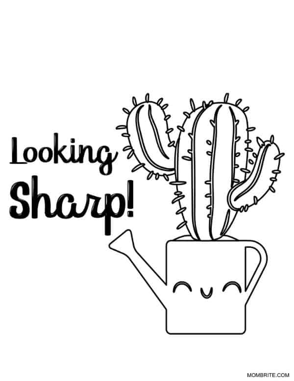 Cactus Coloring Page Looking Sharp