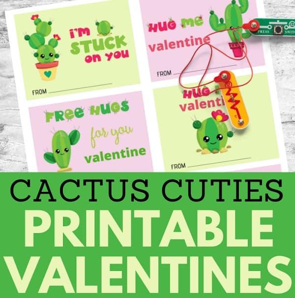 Cactus Valentine Cards