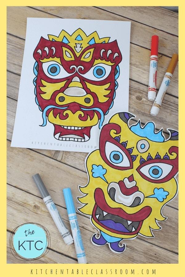 Chinese Dragon Masks