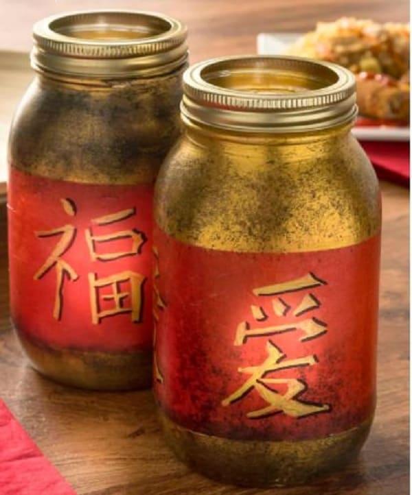 Chinese New Year Mason Jars
