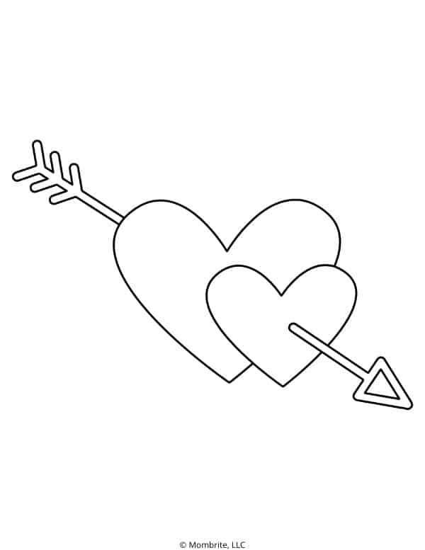 Cupid Arrow Heart Template