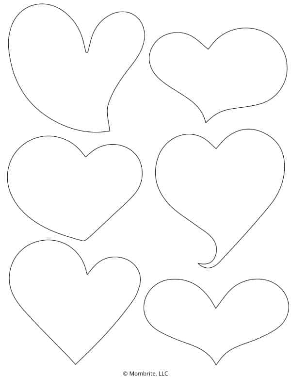 Curved Heart Template