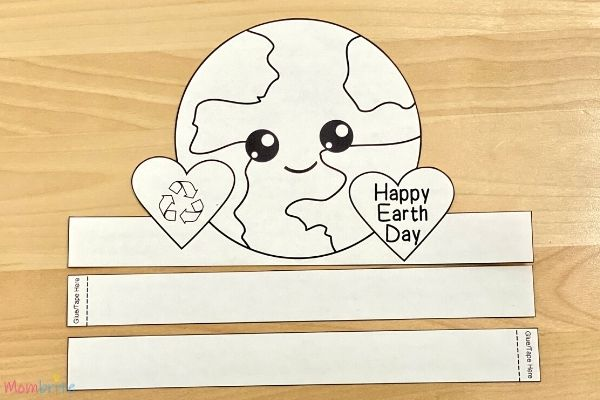 Earth Day Hat Template Cutout