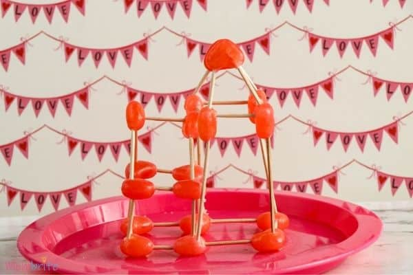 Heart Jelly Bean Toothpick Structure Sideview