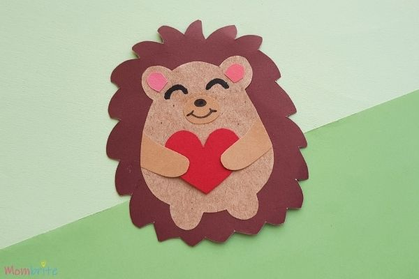Heart Paper Hedgehog Craft