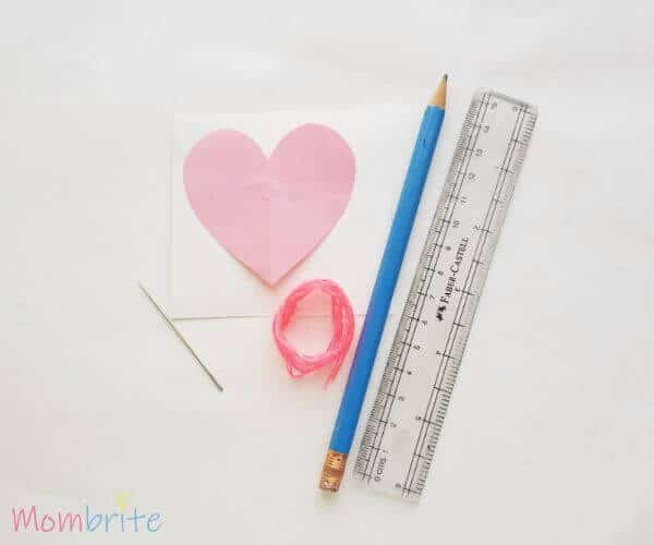 Heart String Art Supplies
