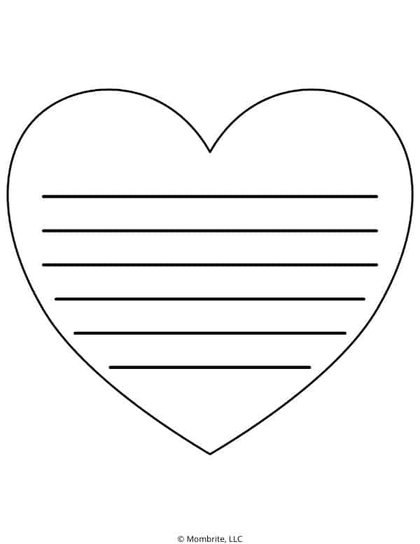 Heart Template for Writing