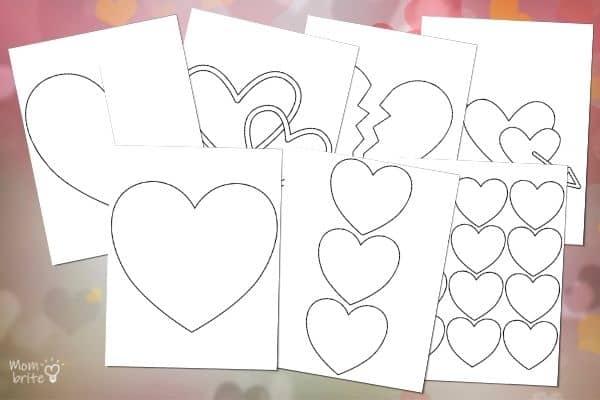 Heart Templates Mockup