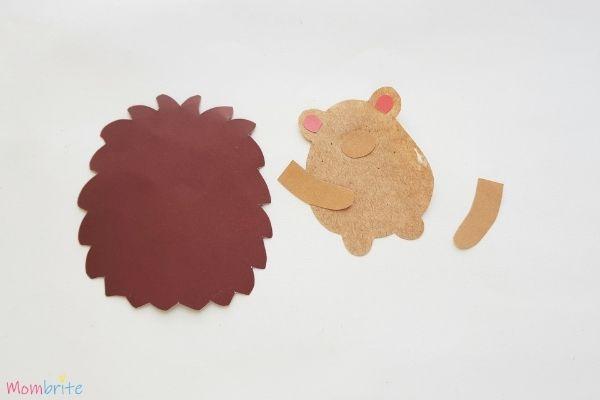 Hedgehog Craft Step 4