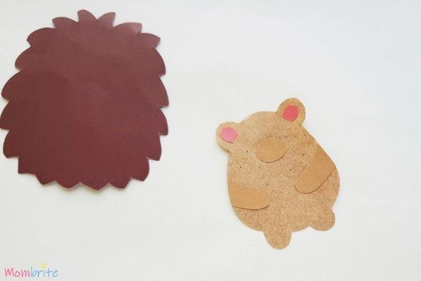 Hedgehog Craft Step 5