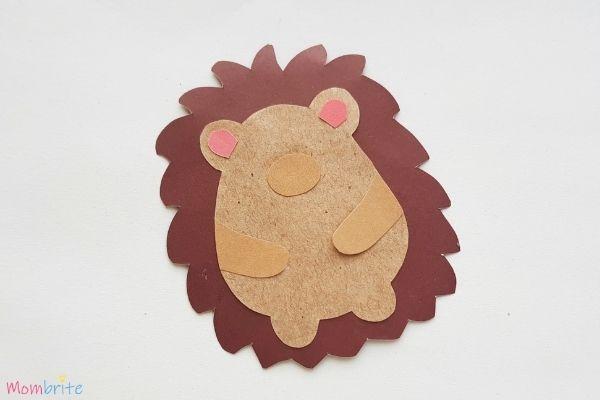 Hedgehog Craft Step 6