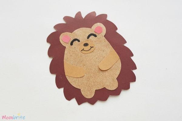 Hedgehog Craft Step 7
