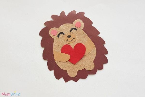 Hedgehog Craft Step 8