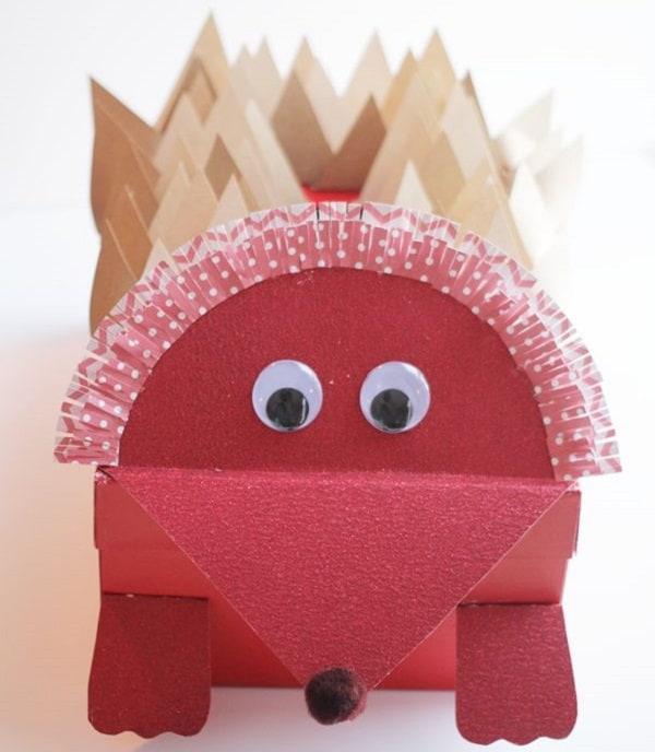 Hedgehog Valentine Box