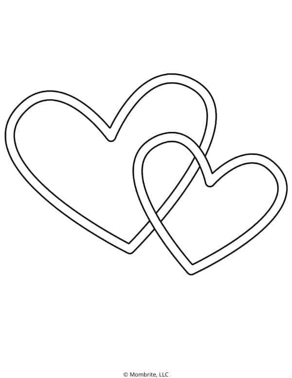 Inset Heart Template