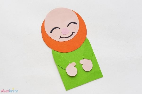 Leprechaun Bookmark Draw Face