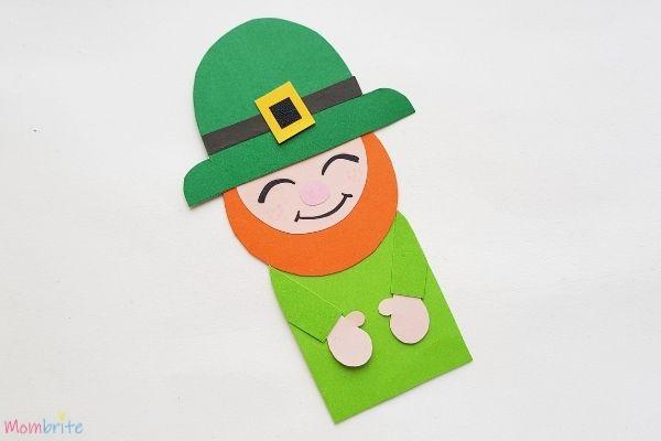 Leprechaun Bookmark Glue Hat on Head